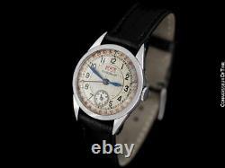 1938 Jaeger-LeCoultre Vintage Hommes Double Date 2701 Ss Montre Rare &