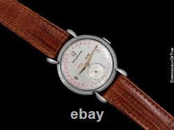 1946 Jaeger-LeCoultre Vintage Hommes Triple Date Montre Ss Acier & or Rose