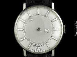 1958 Jaeger-LeCoultre/Vacheron & Constantin Diamant Mystery Cadran, 14K or Blanc