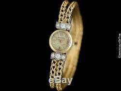 594ms Jaeger-LeCoultre Vintage Backwind 18K Or & Montre Diamant Garantie