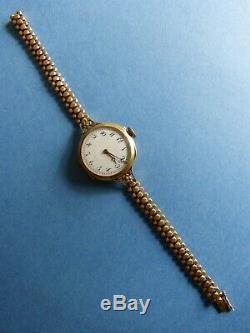 ANCIENNE MONTRE FEMME OR 18 carats LECOULTRE POINCON TETE CHEVAL 31gr