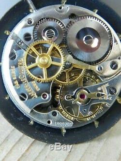 Ancien mouvement mécanique JAEGER LE COULTRE P800 / C CADRAN NOIR OLD WATCH