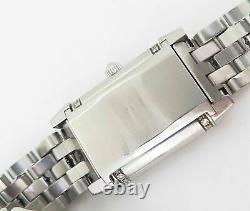Auth Jaeger Le Coultre Reverso Diamond Set Ladies Floreale Quartz Ref 265.8.08