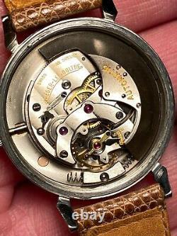 Belle montre Jaeger Lecoultre Powermatic réserve de marche acier année 50