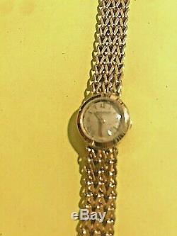 Bracelet Montre Femme Jaeger Lecoultre Or Massif 18k Vintage Annees 50