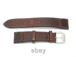 Bracelet Montre Jaeger Lecoultre Pour Reverso 20 MM Cuir Veau Marron Watch 360