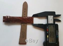 Bracelet de montre Jaeger Lecoultre Cuir Marron Boucle Ardillon Jaeger 18mm