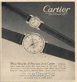 Cartier Memovox Acier Mouvement Jaeger Lecoultre Calibre P489/1 De 1952 C127p3