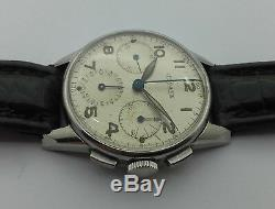 Chronographe Jaeger Lecoultre En Acier De 1940 C127p3
