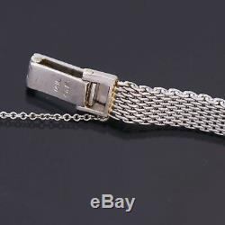 Femmes 14K or Blanc Diamant Bracelet Lecoultre Montre de Luxe CA1950S