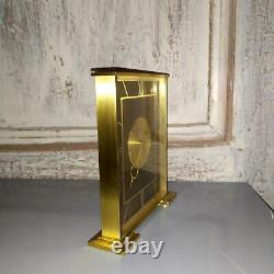 Horloge à poser pendule de bureau Jaeger Lecoultre Laiton 8 jours