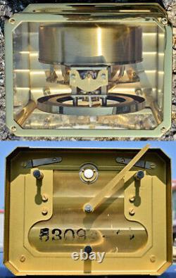 Idéal Montre De Mobile Atmos LeCoultre D'Époque 1970 Entièrement Fonctionnel