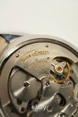 JAEGER-LECOULTRE AUTOMATIQUE à QUANTIÈME EN ACIER, calibre K813, années 50