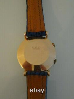 JAEGER LECOULTRE Memovox Montre Bracelet homme Boitier or 18 carats