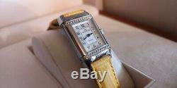 JAEGER LeCOULTRE Reverso Floral, acier/diamants, bracelet neuf