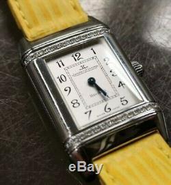 JAEGER LeCOULTRE Reverso Floral, acier/diamants, excellente, bracelet neuf