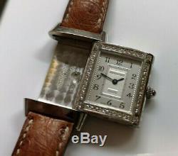 JAEGER LeCOULTRE Reverso jewellery, or/diamants, gold/diamonds, valeur 18.000