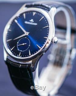 Jaeger-LeCoultre Grand Master ultra fine montre 174.8.90. S cadran bleu