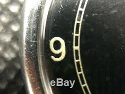 Jaeger-LeCoultre Rare NOS Jaeger Lecoultre 1930/40 black dial 35mm Cal. 60