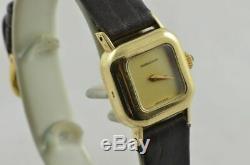 Jaeger Lecoultre 18K 750 Massivgold Femme Montre 15MM Remontage Manuel Vintage