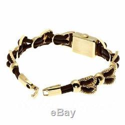 Jaeger Lecoultre 597ms 14KYG Bracelet WithMarron Corde Main Winding Montre Femmes