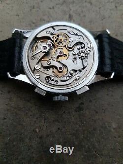 Jaeger Lecoultre Ancienne Montre Chronograph 1950 3 Compteurs Ug 285 Vintage