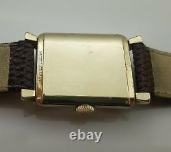 Jaeger Lecoultre Art Deco En Or 10k Gold Filled Calibre 428 De 1940 C127p9