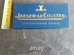 Jaeger Lecoultre Dealer Official Display Plaque Genuine Vintage Rare Collector