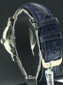 Jaeger-Lecoultre Géographique 38mm Platine Réf. 169.6.92 Bleu Bracelet Crocodile