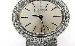 Jaeger-Lecoultre K18 Wg or Blanc Diamant 29G Femmes Main Montre à Remontoir