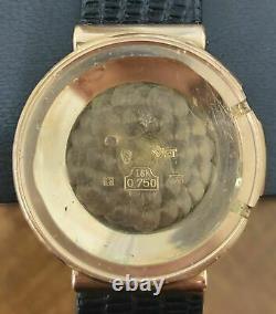 Jaeger Lecoultre Memovox Alarm Vintage Montre Or Rose 18k Des Années 1950-60