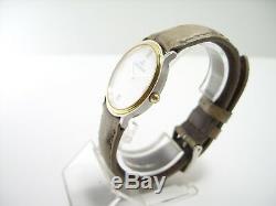 Jaeger Lecoultre Montre Extra Plate Bicolore En Tres Bel Etat Vitage Watch Thin