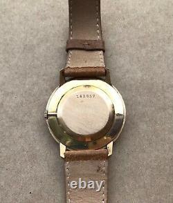 Jaeger Lecoultre Montre Homme Ancienne Modèle Or 18k Années 60/70