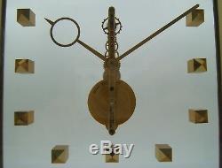 Jaeger Lecoultre Pendulette 8 Jours A Mouvement Baguette Squelette De 1960
