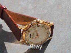 Jaeger-Lecoultre Powermatic gold 18k spider lugs vintage watch
