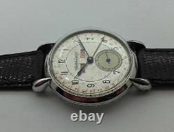Jaeger Lecoultre Triple Date A Remontage Manuel Boitier En Acier De 1960 C89p2