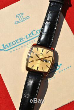 Jaeger Lecoultre automatic date & jour modèle Club 1971 en or 18 carats Full Set