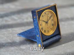 Jaeger-Lecoultre memovox travel clock 70's vintage watch lapis lazuli style