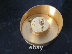 Jaeger Lecoultre pendule de bureau en métal doré vers années 1950-1960