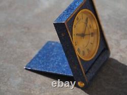 Jaeger-Lecoultre travel clock alarm blue lapis memovox vintage watch reveil