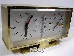 Jaeger Pendulette Barometre Thermometre Ancien Vers 1960/70