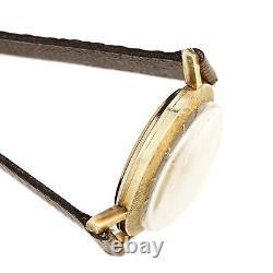 Lecoultre Memovox Robe Montre CA1960S Deux Tons Cadran, 17 Bijou Manuelle