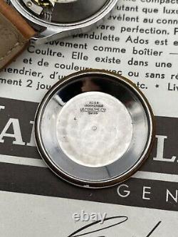 Montre Automatique Jaeger LeCoultre 35mm Acier Bumper Reserve De Marche Vintage