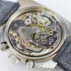 Montre Chronographe Fred Regate Acier Valjoux 7733 1970