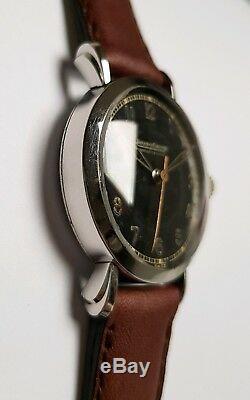 Montre JAEGER LECOULTRE Art Déco en acier circa 1945, mécanique-Vintage