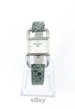 Montre JAEGER-LECOULTRE Etrier signée Hermès Paris acier