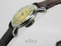 Montre JAEGER LECOULTRE LADY en acier mouvement 496 vers 1950 vintage