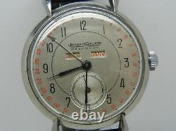 Montre JAEGER LECOULTRE TRIPLE DATE en acier CAL P484/A vers 1950