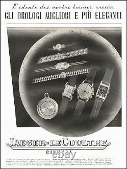 Montre JAEGER LECOULTRE uniplan en acier vers 1940 407 Art Déco Vintage