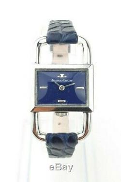Montre Jaeger-Lecoultre Etrier (Footing) en acier cadran laqué bleu